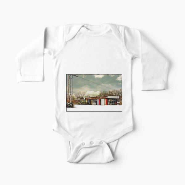 I-90 2-27-08 7:44 AM NEW YORK Long Sleeve Baby One-Piece
