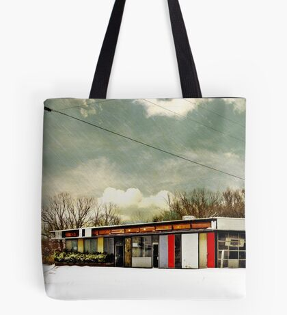 I-90 2-27-08 7:44 AM NEW YORK Tote Bag