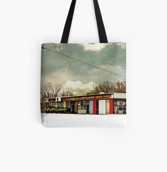 I-90 2-27-08 7:44 AM NEW YORK All Over Print Tote Bag