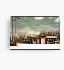 I-90 2-27-08 7:44 AM NEW YORK Canvas Print