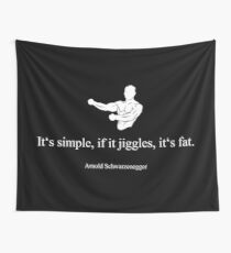 Arnold Schwarzenegger Quote Wall Tapestry