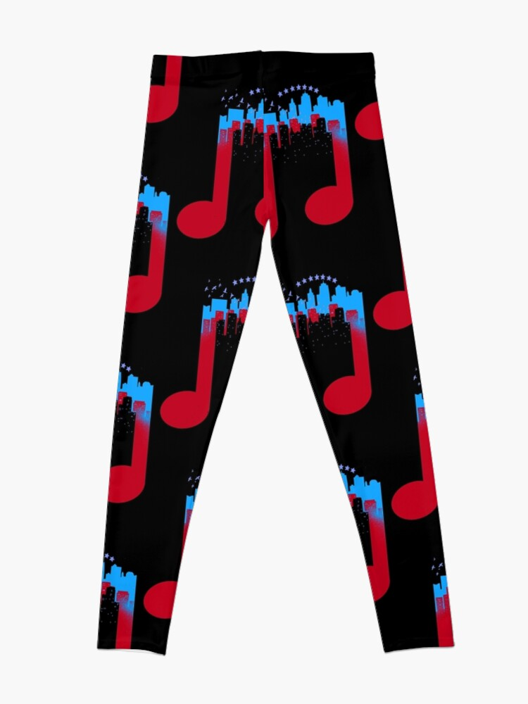 Alternative Ansicht von Musik Stadt Note Leggings