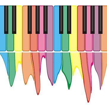 Piano Keys by evisionarts