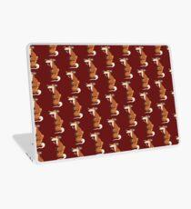 Red Fox With Flowers I Cartoon Art  Laptop Skin