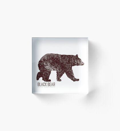 Black Bear Walking Acrylic Block