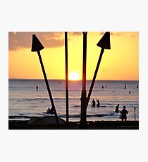 Torched Sunset Photographic Print