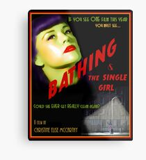 Bathing & the Single Girl Poster  Metal Print