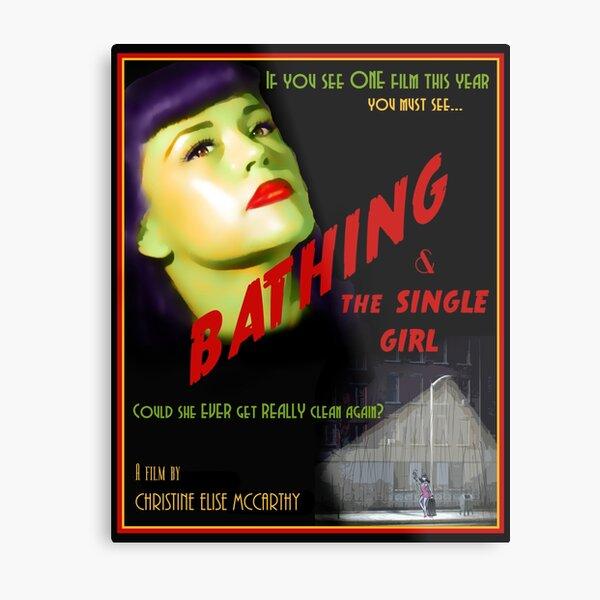 Bathing & the Single Girl Poster  Metal Print