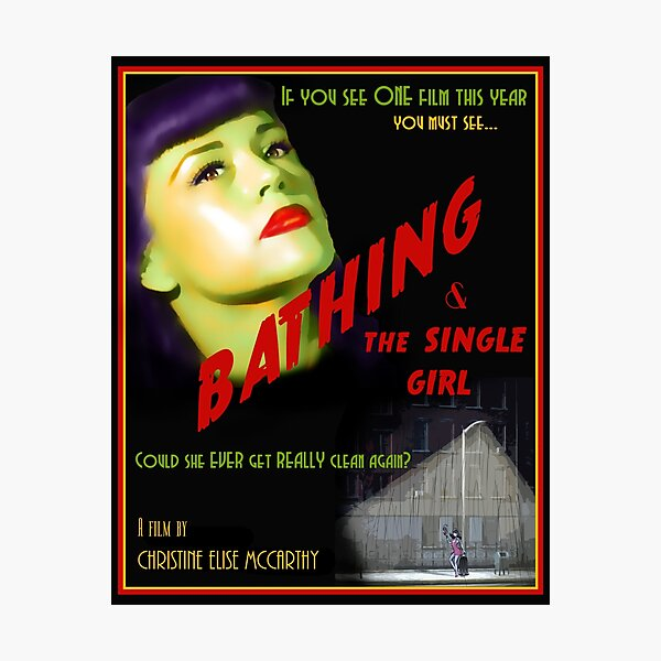 Bathing & the Single Girl Poster  Photographic Print