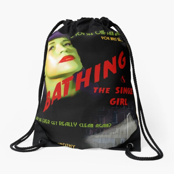 Bathing & the Single Girl Poster  Drawstring Bag