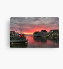 Last Light at Peggy's Cove Canvas Print