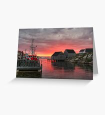 Last Light at Peggy's Cove Greeting Card
