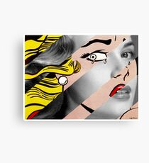 Roy Lichtenstein's Crying Girl & Grace Kelly Canvas Print