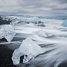 Ice Beach, Jökulsárlón by Peter Clarke