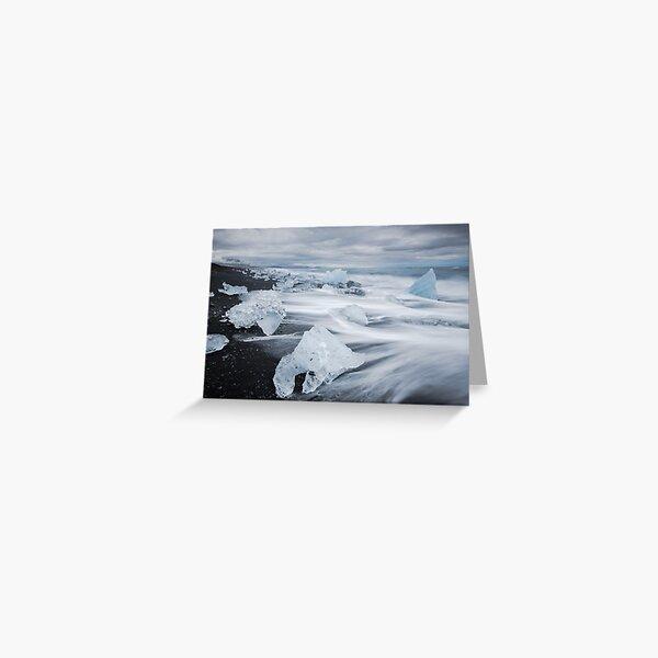 Ice Beach, Jökulsárlón Greeting Card