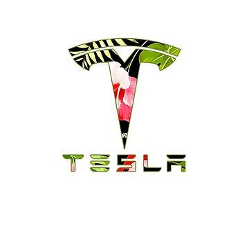 Tesla Flower Sticker by roccoyou