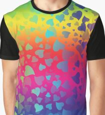 Hearts Colors2 Graphic T-Shirt