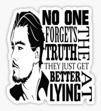 No One Forgets The Truth They Just Get Better At Lying - Dicaprio Sticker