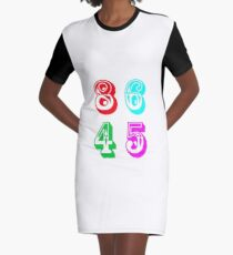 86 45 - Impeach Trump Graphic T-Shirt Dress