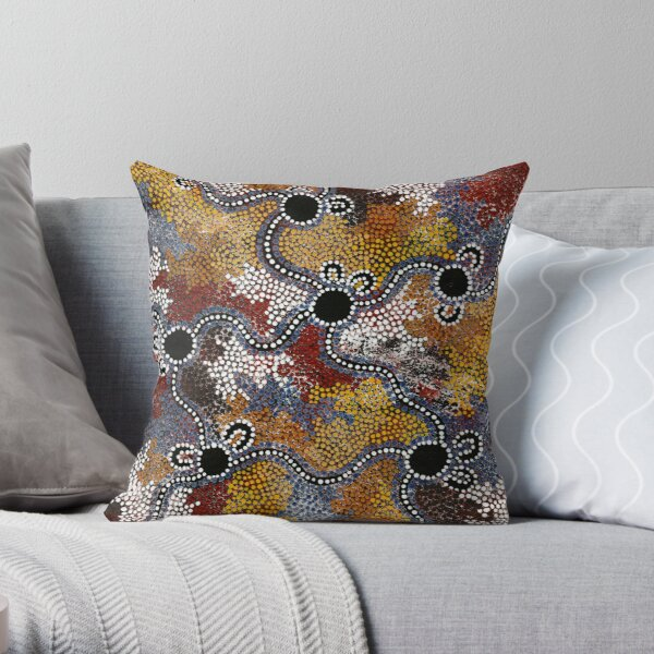 Aboriginal Art – Travels Throw Pillow