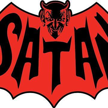 Satan Bat Man Vintage Style Logo by DeadMonkeyShop