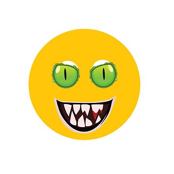Evil Monster Emoji by Designhorn