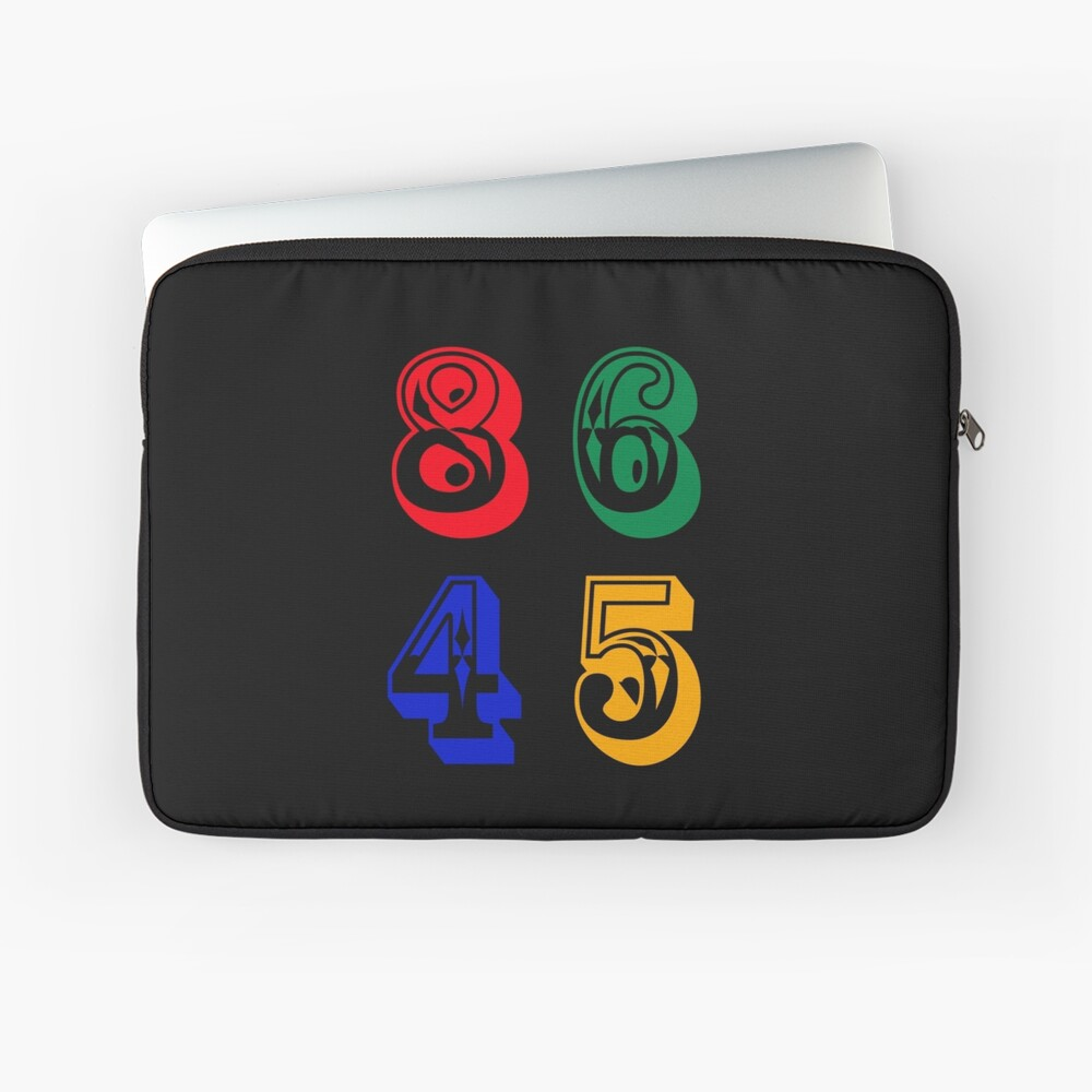 86 45 - IMPEACH TRUMP Laptop Sleeve Front