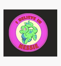 Cryptid Friends - I Believe in Nessie!  Photographic Print