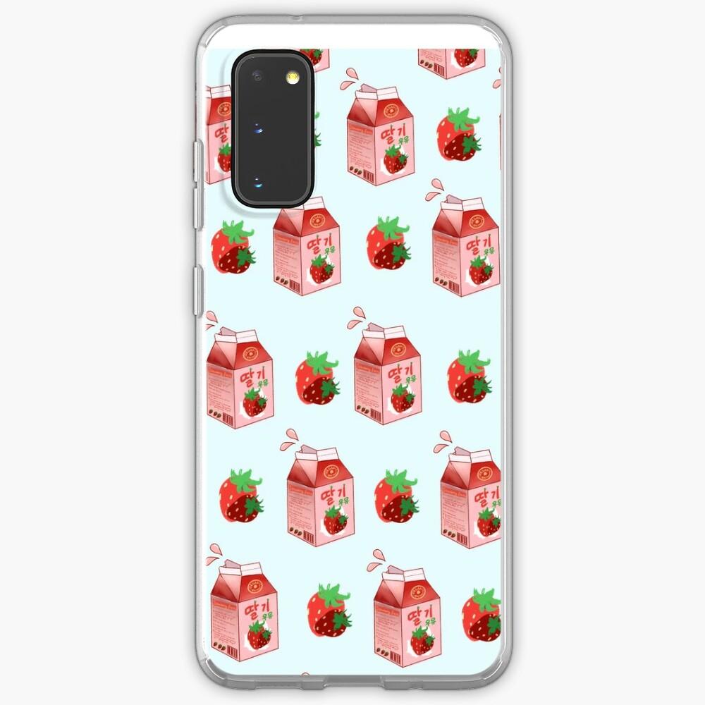 Strawberry Milk Case & Skin for Samsung Galaxy