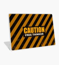 CAUTION Free Thinker - Second Generation Worn A Laptop Skin