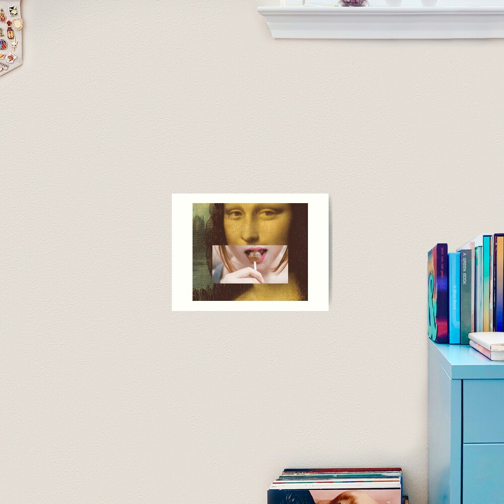 Mona Lisa Lollipop Selfie Search Results Web results  Leonardo da Vinci Pop Culture Print Art Print