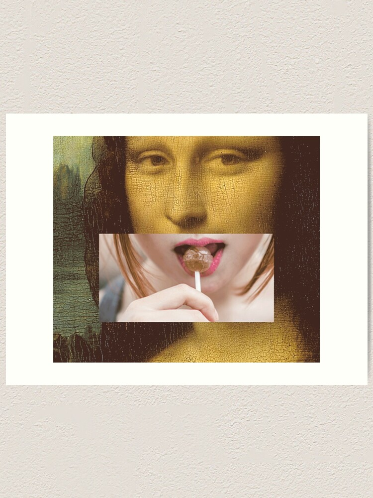 Alternate view of Mona Lisa Lollipop Selfie Search Results Web results  Leonardo da Vinci Pop Culture Print Art Print