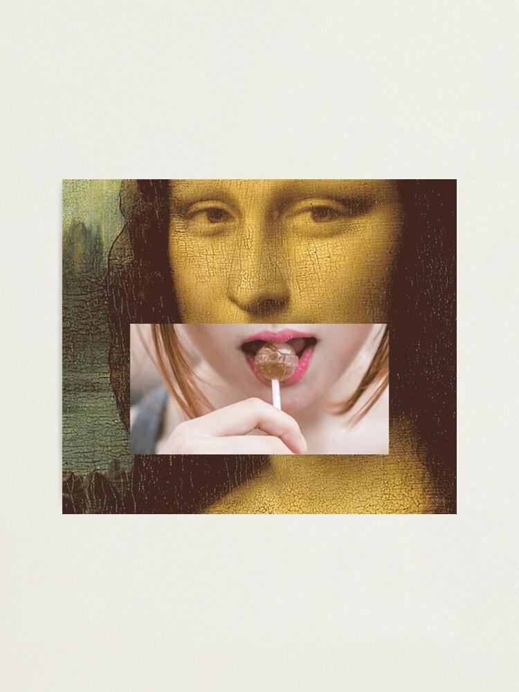 Alternate view of Mona Lisa Lollipop Selfie Search Results Web results  Leonardo da Vinci Pop Culture Print Photographic Print