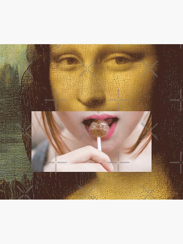 Mona Lisa Lollipop Selfie Pop Culture Print by thespottydogg