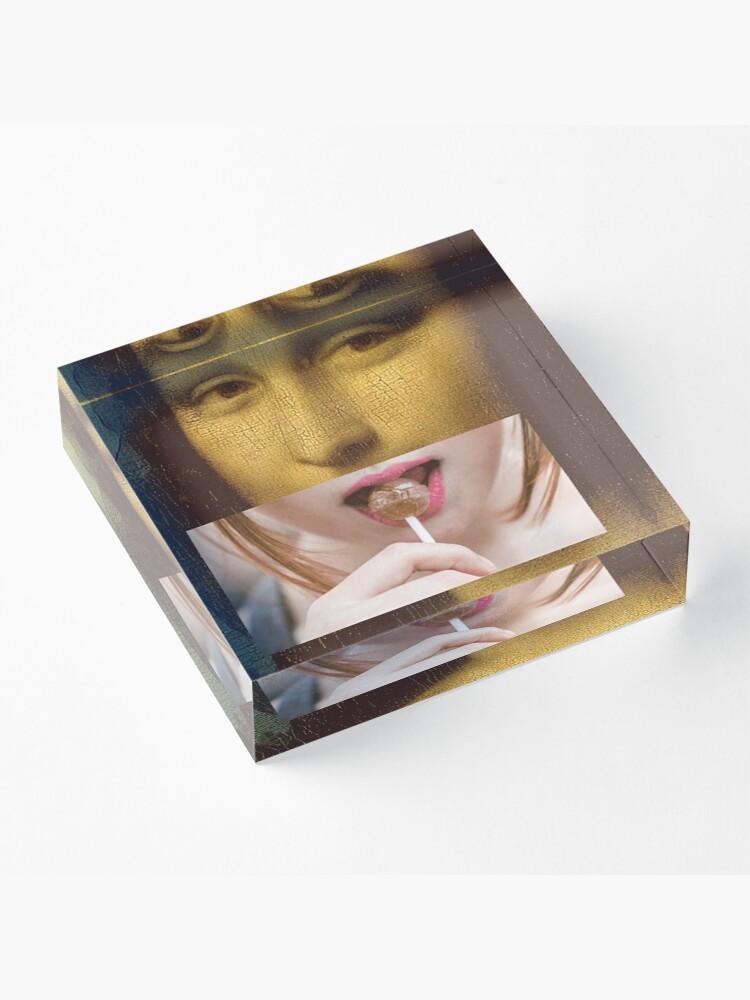 Alternate view of Mona Lisa Lollipop Selfie Search Results Web results  Leonardo da Vinci Pop Culture Print Acrylic Block