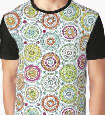 Circles Pen Pattern Graphic T-Shirt