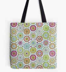 Circles Pen Pattern Tote Bag