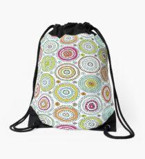 Circles Pen Pattern Drawstring Bag