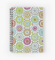 Circles Pen Pattern Spiral Notebook