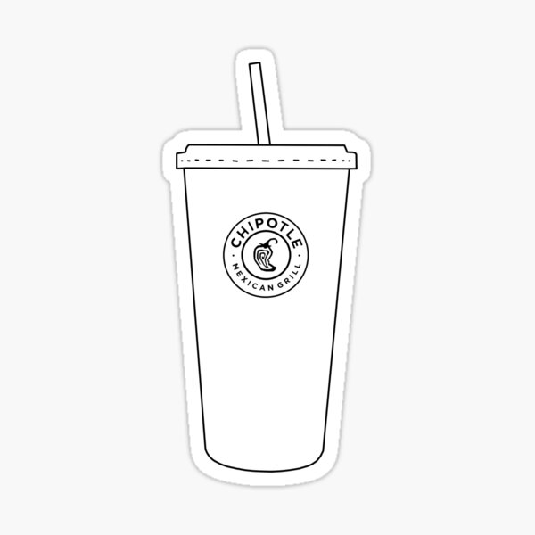 Chipotle Cup Sticker