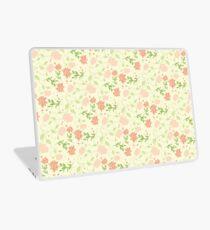 Sunlight Soft Pink Flowers Blossom Laptop Skin