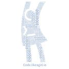 Binary Girl - Blue Font by CodeLikeAGirl