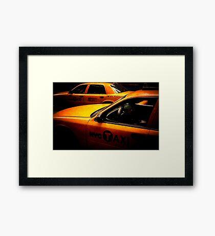 Cabs Framed Print