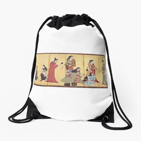 Kosode, the undershirt transformed into outer garment after Muromachi period. (Matsuura byobu, 17th century) Drawstring Bag
