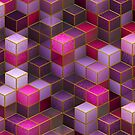 Geometric Cube Square Surface Texture Rave  by thespottydogg