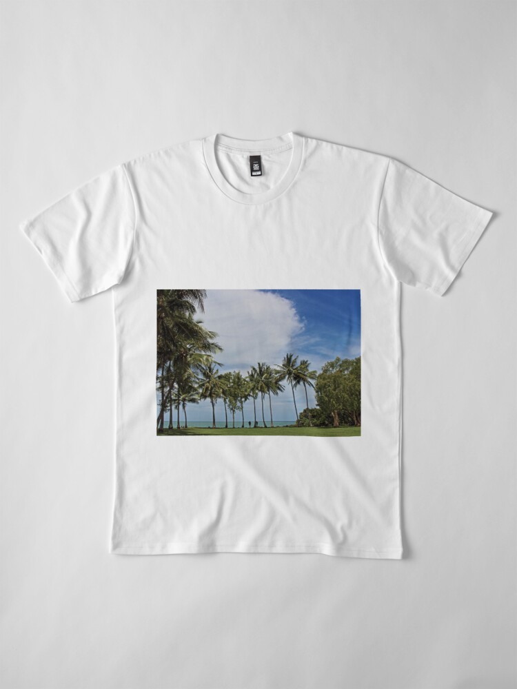Alternate view of Tropical waterfront park with palm trees Premium T-Shirt