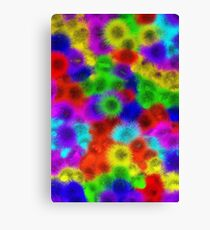 Psychedelic Fur Pattern Texture Canvas Print
