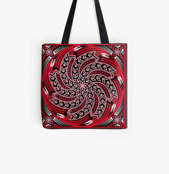 Wind Spirit (Red) All Over Print Tote Bag