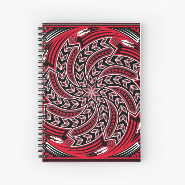 Wind Spirit (Red) Spiral Notebook