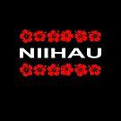 Niihau Red Flower Bands Dark Color by TinyStarAmerica